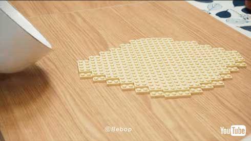 レゴ ピザ 作る ストップモーションアニメ YouTube lego pizza 料理 Bebop