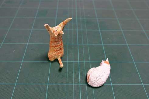 大気を操る 猫 見守る師匠 野良猫 立ち猫 立体化 フィギュア めーちっさい