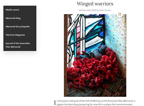 兵士の墓に供えられた花が盗まれた? 赤いポピーで作られたハトの巣が荘厳で美しい