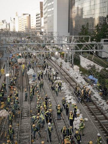 JR東日本 山手線 線路 切り替え工事 様子 写真
