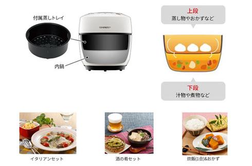 ホットクックの2段調理の例