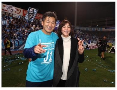 三浦りさ子 三浦知良 キングカズ 出場 最終節 横浜FC Jリーグ最年長出場記録 J1 昇格 ブログ