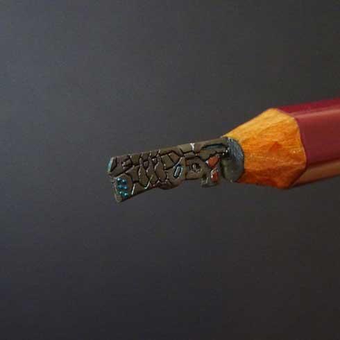 鉛筆彫刻 シロイ AtoZ 芯 アルファベット アート