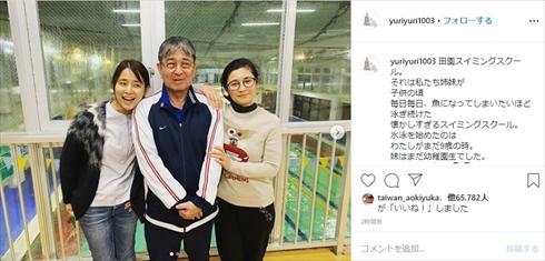 石田ゆり子 石田ひかり 姉妹 水泳 田園スイミングスクール インスタ