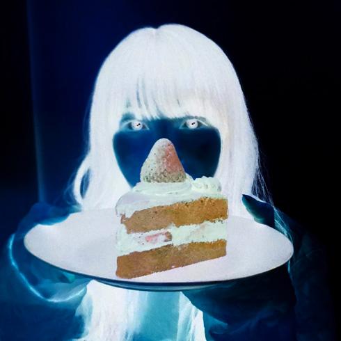 反転したネガケーキ