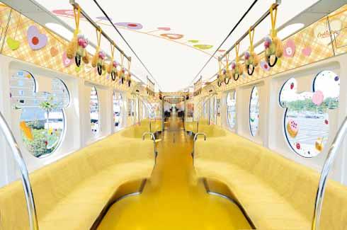 東京 ディズニーランド ダッフィー フレンズ クッキー アン リゾートライン モノレール 座席 つり革 フリーきっぷ リゾートゲートウェイ ステーション