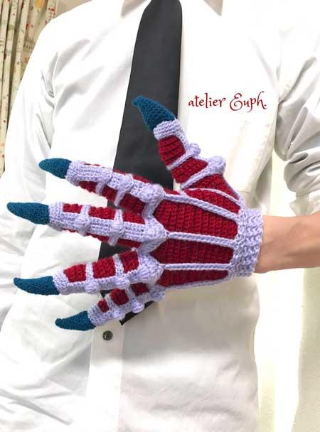 鬼の手 手袋 編み物 自作 ハンドメイド 地獄先生 ぬ〜べ〜