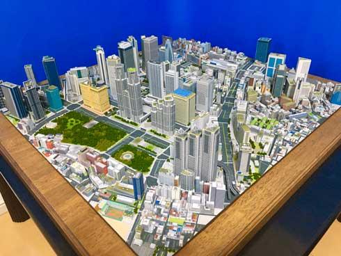 新宿都市模型 製作期間4年 紙 新宿 模型 自作 ペーパークラフト トシ