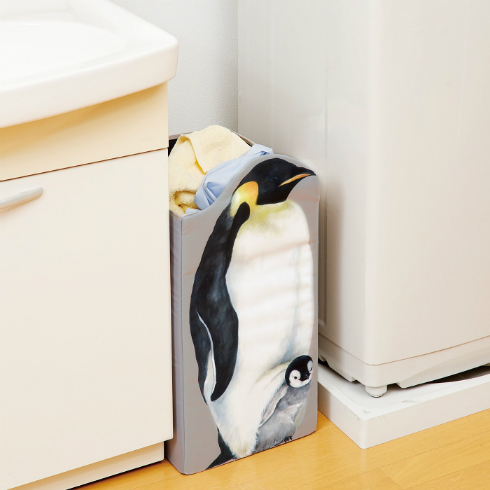 コウテイペンギン親子と暮らす収納ボックス