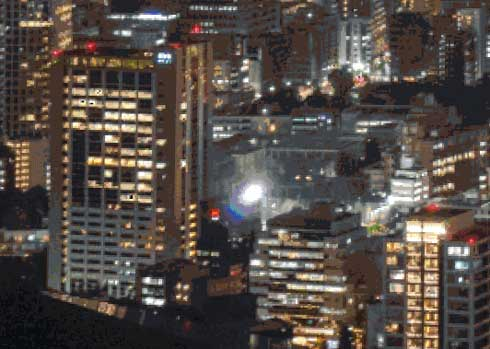 Minecraft マイクラ 東京 夜景 約2年半 ブロック モザイク画 Kein