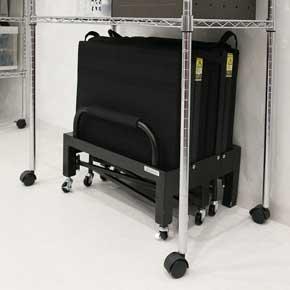 バウヒュッテ デスク下 ベッド BHB-590F コンパクト 収納 折り畳み 仮眠 ベッド