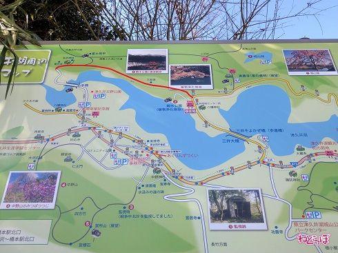 津久井湖の北側を回ります