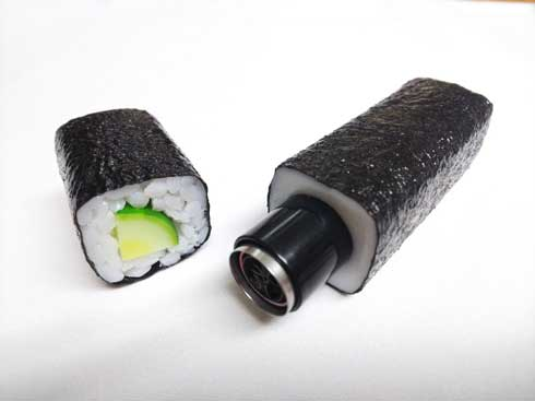 食品サンプル ながお食研 アスパラベーコン 印鑑カバー シヤチハタ