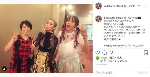 倖田來未 LiSA miwa FNS歌謡祭