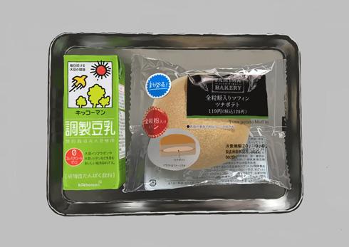 豆乳と菓子パン