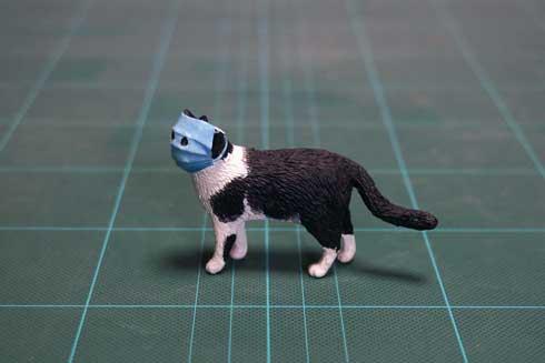 猫 マスク 新型コロナウイルス 立体化 フィギュア 再現 めーちっさい
