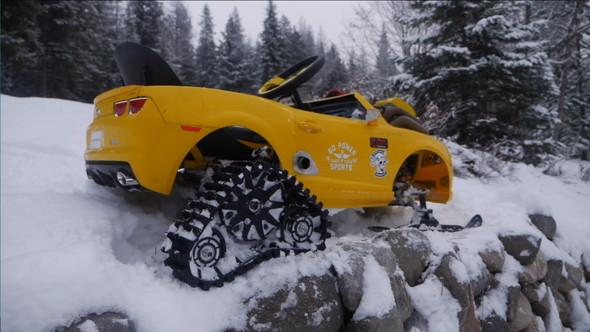 キッズカー スノーモービル 改造