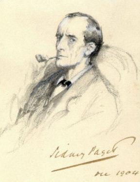 シャーロックホームズの肖像画