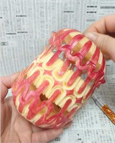 カボチャ カービング 彫刻 チェーン 鎖 gaku 作品