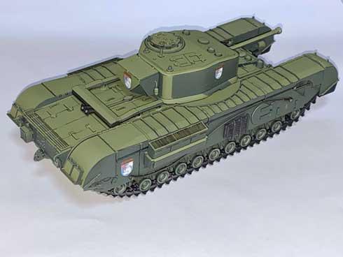 フラッシュ撮影 CGアニメ 見た目 戦車 模型 プラモデル アニメ塗り ガルパン チャーチル