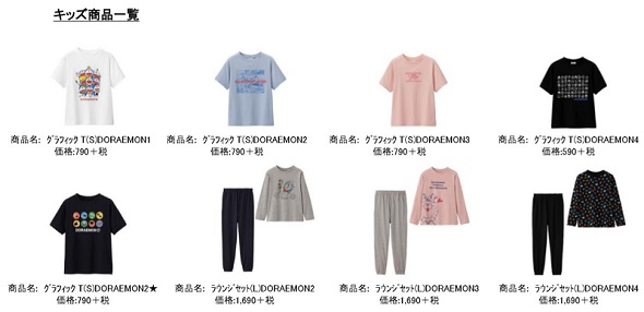 (「GU + ASOKO de ドラえもん」のスペシャルコレクション)