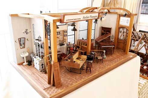 ヒナぞー 1/12サイズ ミニチュア 制作 ドールハウス ピアノ 家具 作品