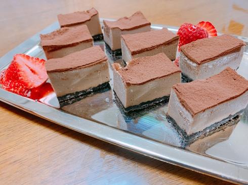 ねとめし チョコ ケーキ 簡単 チーズ