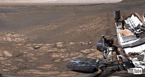 NASAが火星探査車が撮影した18億ピクセルのパノラマ写真を公開