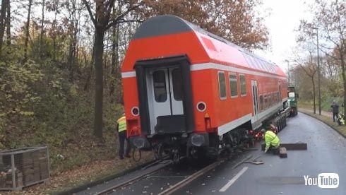 海外 鉄道 陸送 二階建て ドイツ 警察
