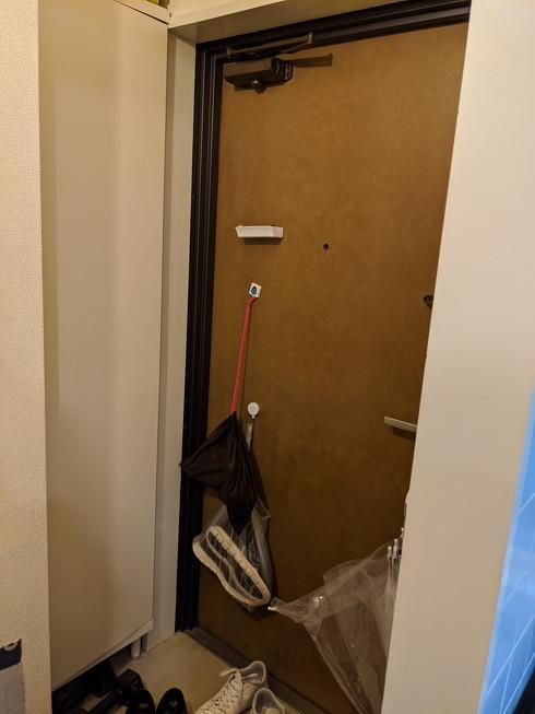 玄関収納見直し