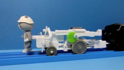 プラレール 仕事猫 現場猫 改造 鉄道 どうして SL 模型