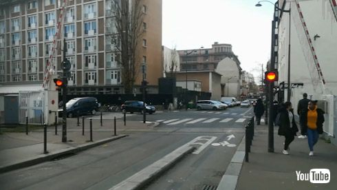 海外 YouTube パリ 地下鉄 踏切 第三軌条方式
