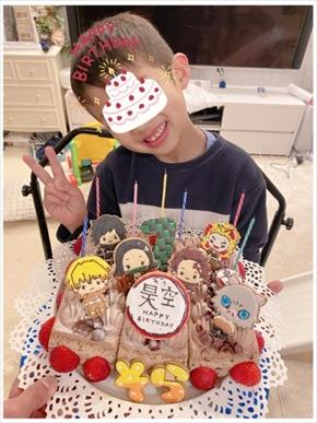 辻希美 杉浦太陽 昊空 そら 次男 誕生日 鬼滅の刃 ケーキ ブログ