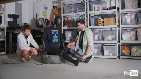 エアバッグ 上に 座る 実験 YouTube スローモーション