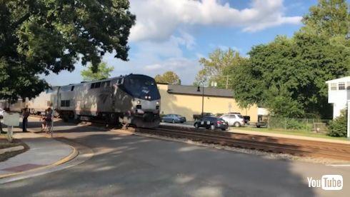 海外 YouTube アメリカ 貨物列車 ディーゼル機関車 アムトラック オートトレイン