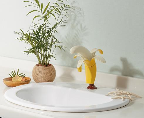 バナナの蛇口を取り付けたところ