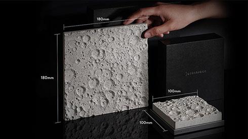 デスクに置ける大きさの月面 NASAデータから製造した「Lunar Surface」