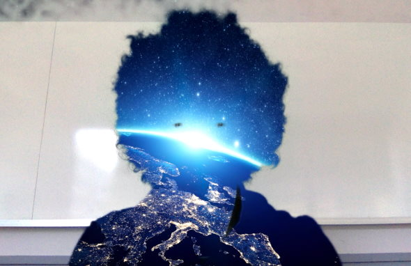 Web会議 バーチャル背景 宇宙 人知を超えた超次元生命体 まきのゆうき バーグハンバーグバーグ zoom