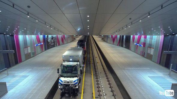 海外 鉄道 地下鉄 アムステルダム ベンツ 自動車 保線 軌陸車
