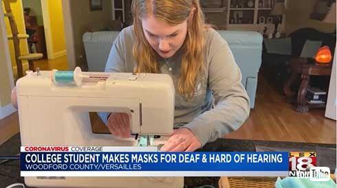 聴覚障害者のためのマスクを開発し無料配布 21歳大学生がクラファンで資金調達