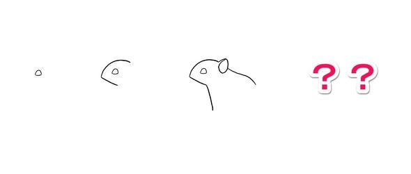 ワイルドモルモット 4枚で完成するシリーズ 絵 当てる 正解