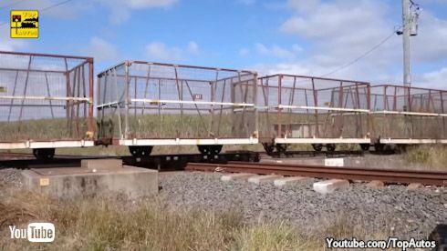鉄道 海外 オーストラリア ダイヤモンド クロッシング 平面交差