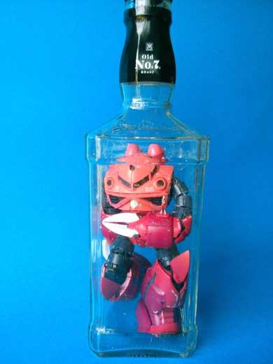 ボトルガンプラ プラモデル 瓶の中で 組み立て ボトルシップ りっしぃ