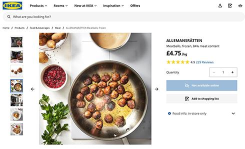 英IKEAがミートボールのレシピ公開 動画で自宅にいながらあの味を再現