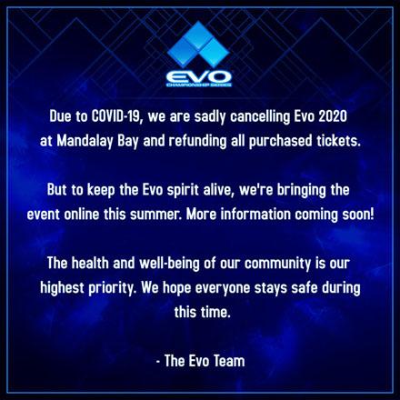 EVO中止