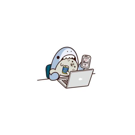 オンライン飲み会サメ