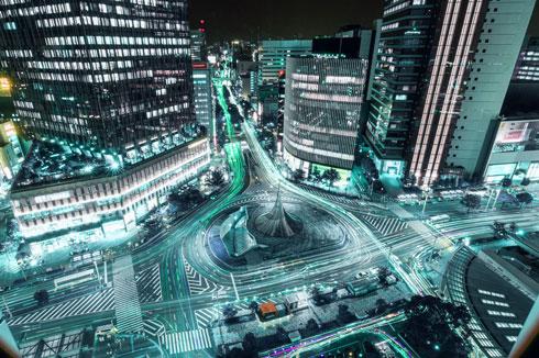 名古屋 攻殻機動隊 夜景 写真
