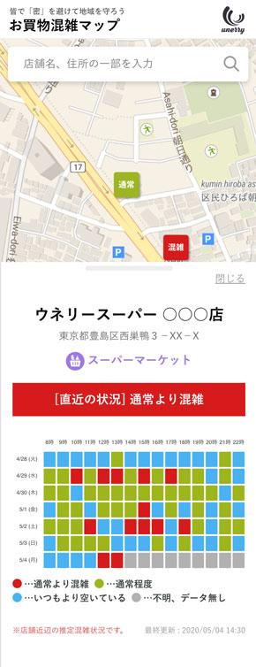 お買物混雑マップ Beacon Bank 混雑傾向データ 無料 サイト