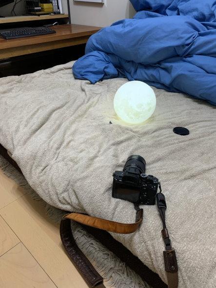 久しぶりのポートレート harao 写真 月 丘 毛布 フィギュア 照明