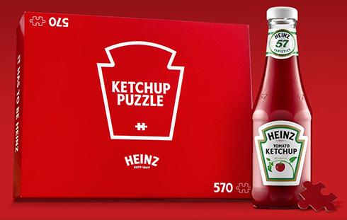 570ピースすべてケチャップ色 ハインツが絵柄のない赤一色パズルを作ってしまう